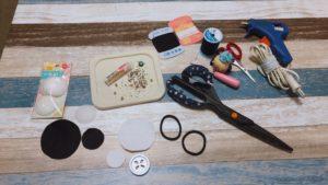 ビーズ刺繍ヘアゴムの材料